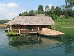 Floating house in Thacba lake