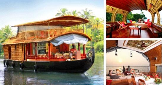 Houseboat tour in Kumarakom