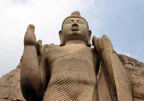 aukana buddha statue.this statue is built in 5th century A.D