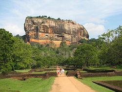 the rock kingdom. Sigiriya. built in 5th century A.d.